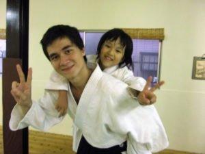 Mit den Kindern beim Aikido