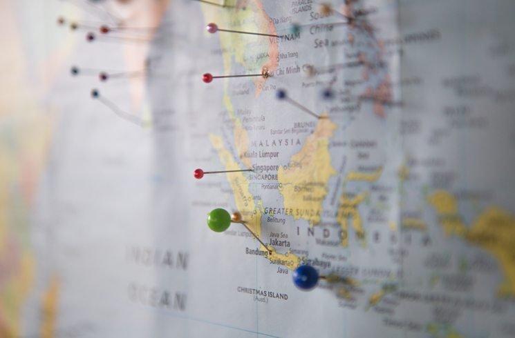 Landkarte von Asien