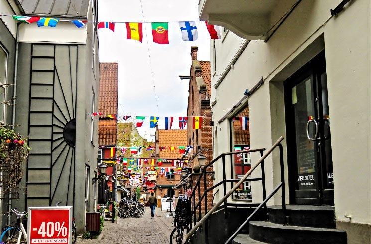 Odense auf Fünen in Dänemark