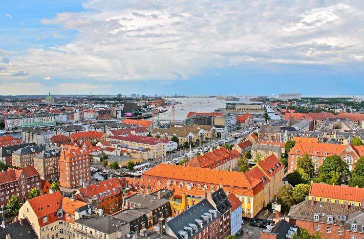 Blick auf Kopenhagen in Dänemark