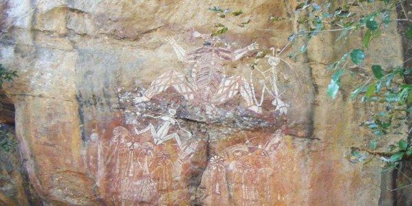 Steinmalereien der Aborigines in Australien