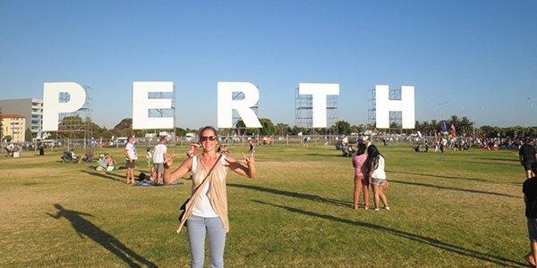 Stadtbuchstaben der australischen Metropole Perth