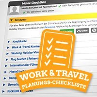 Work and Travel Planungs-Checkliste