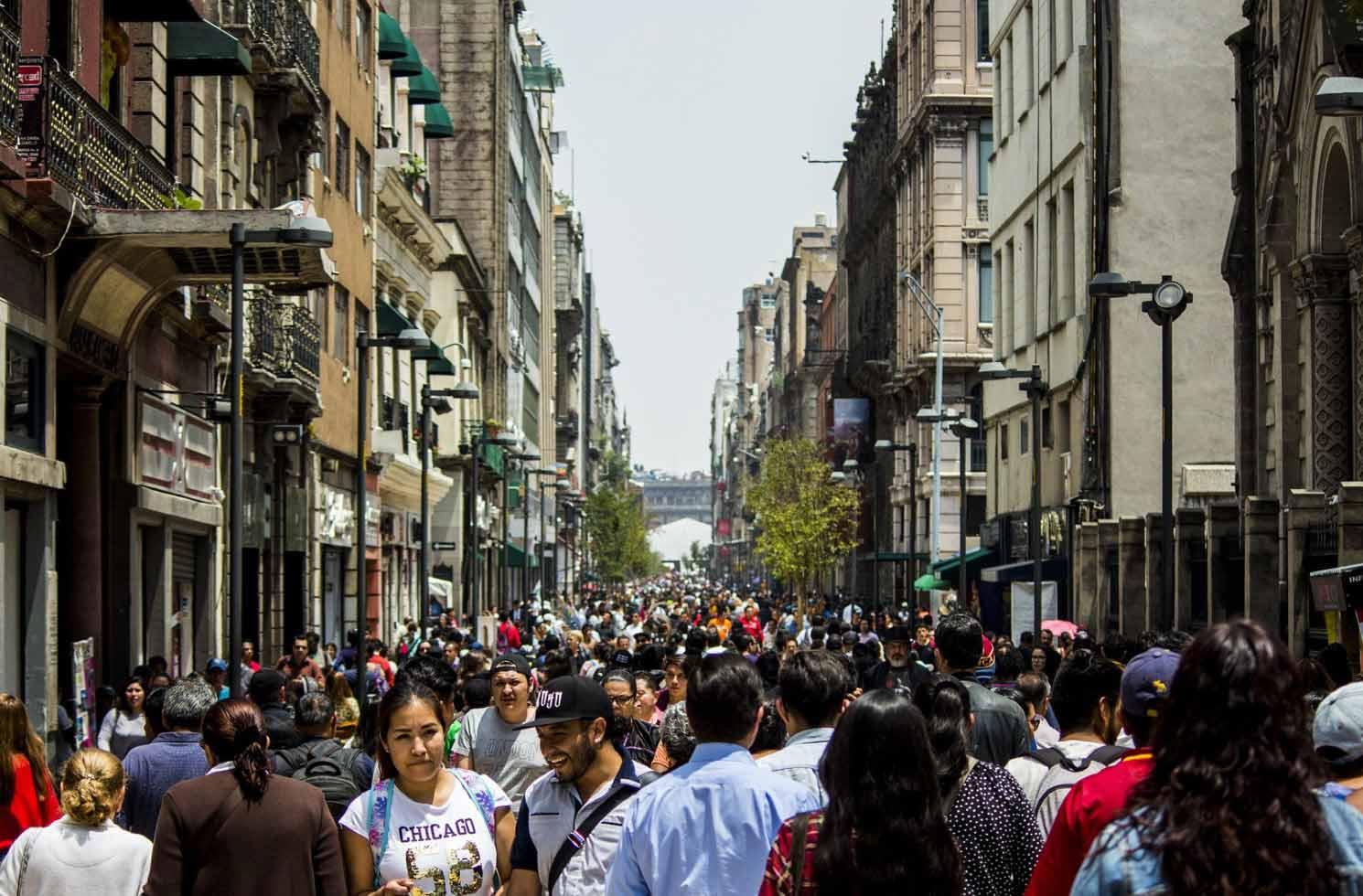 Menschen in Mexiko Stadts