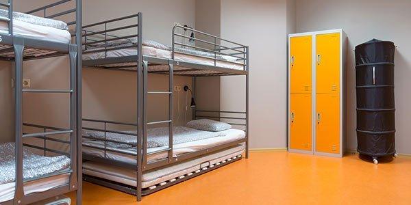 Schlafraum im Hostel