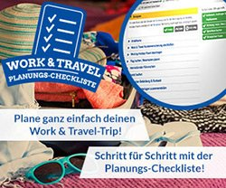 Work and Travel Planungs Checkliste