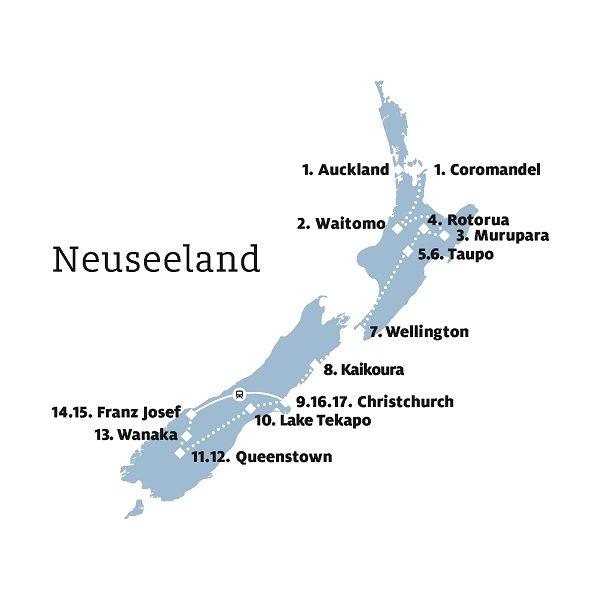 Backpacking-Rundreise durch Neuseeland
