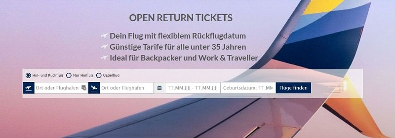 Open-Return-Ticket