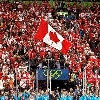 Eishockey Zuschauer in kanada