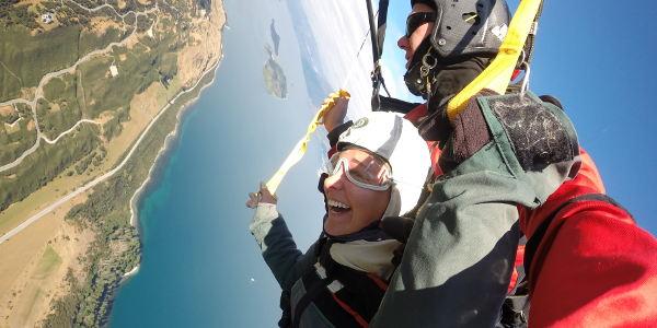 Alinas Skydive-Erlebnis über Queenstown