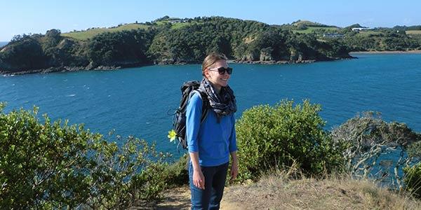 Alina auf Waiheke Island