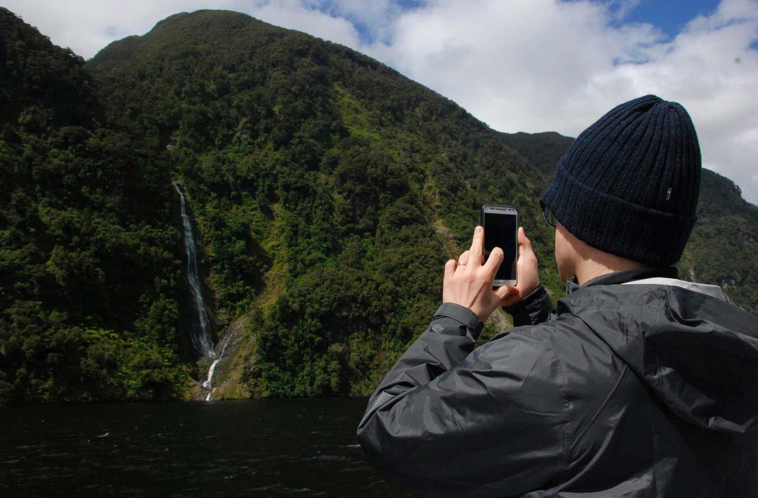Handy-Nutzung beim Work and Travel in Neuseeland