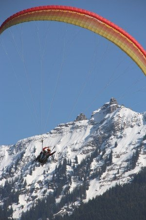 Paragliden in Interlaken, Schweiz