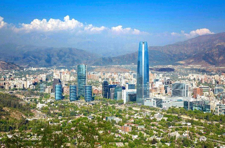 Blick auf Santiago de Chile, Chile
