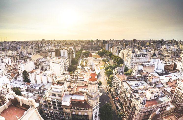 Blick auf Buenos Aires, Argentinien