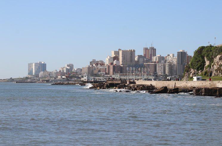 Blick auf Mar del Plata, Argentinien