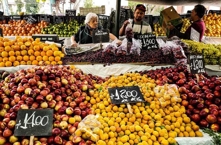 Marktstand in Santiago de Chile