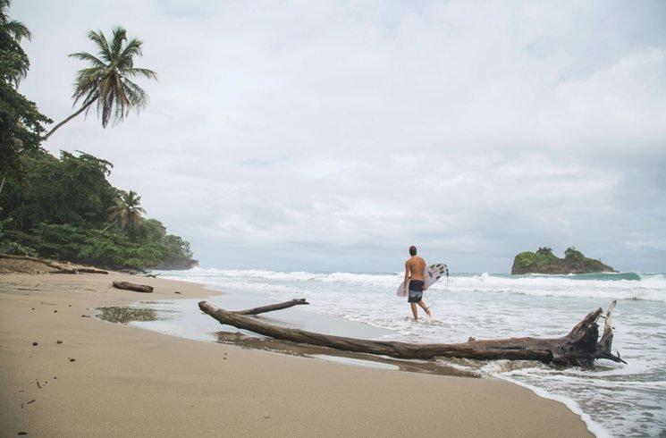 Am Strand von Puero Viejo, Costa Rica