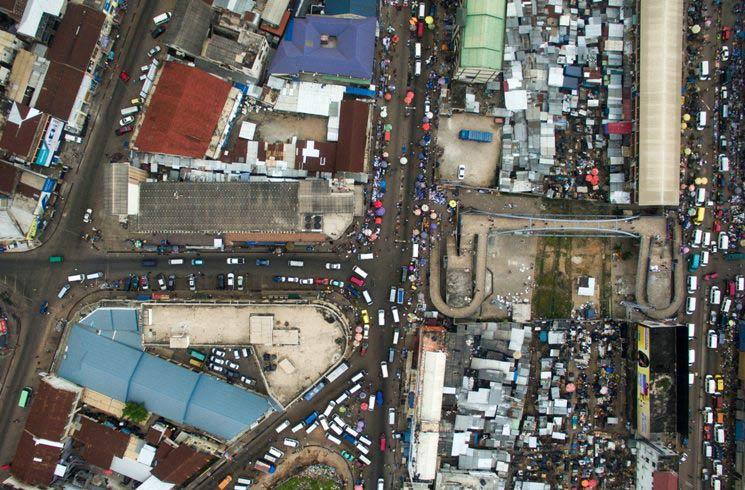 Blick auf Kumasi in Ghana