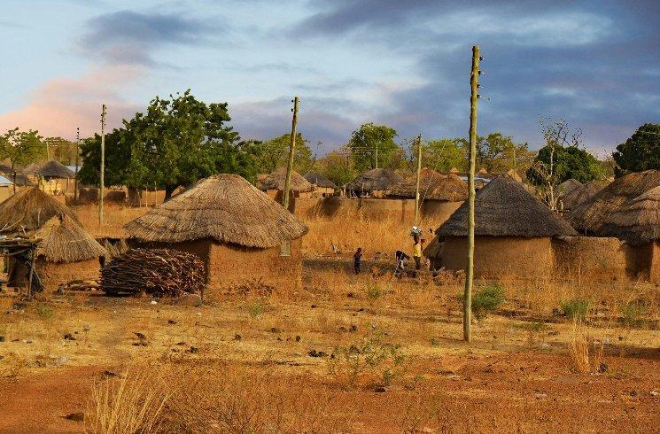 Siedlung in Ghana