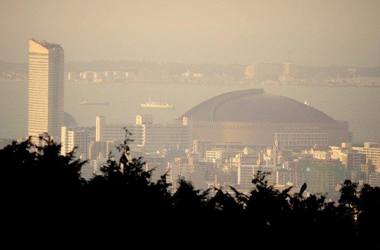 Blick auf Fukuoka in Japan