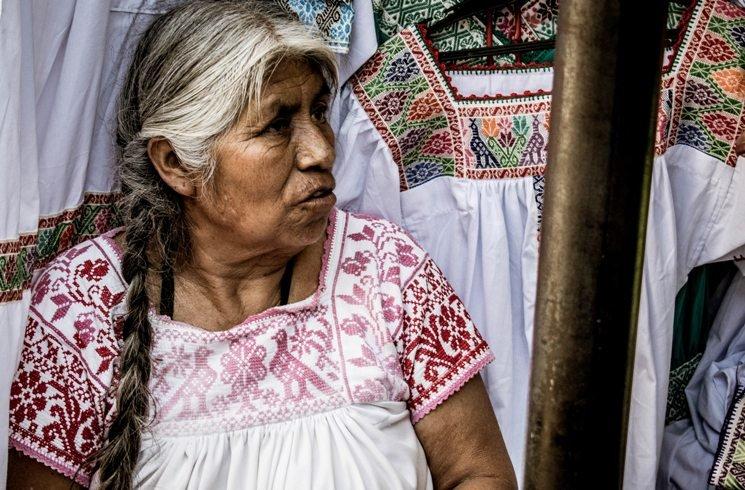 Einheimische Frau in Mexiko
