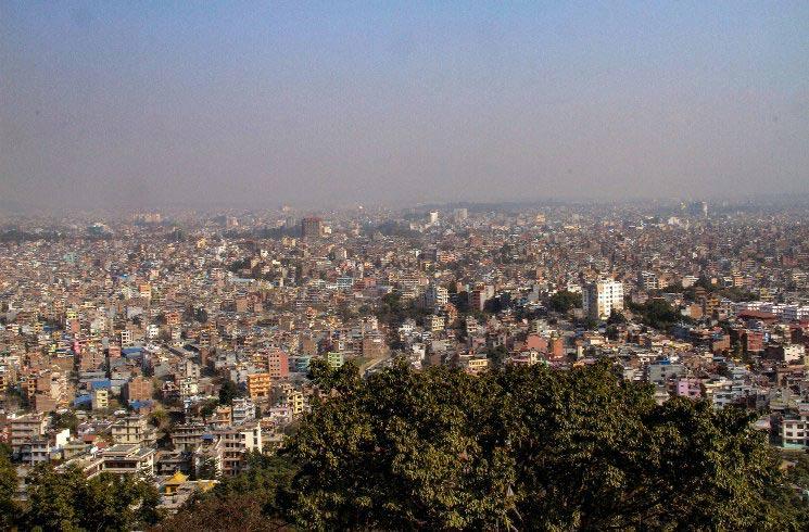 Blick auf Kathmandu in Nepal
