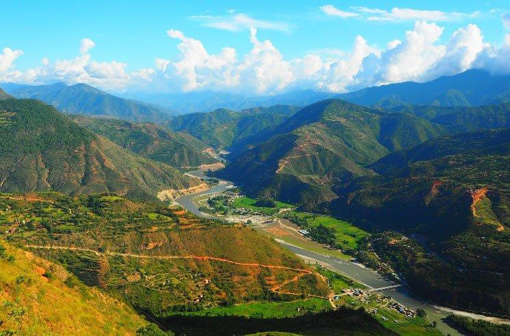 Naturkulisse in Nepal