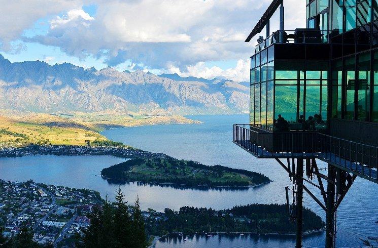 Blick auf Queenstown, Neuseeland