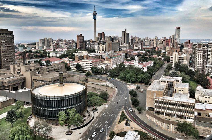 Blick auf Johannesburg, Südafrika