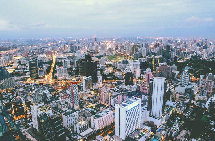 Blick auf Bangkok, Thailand