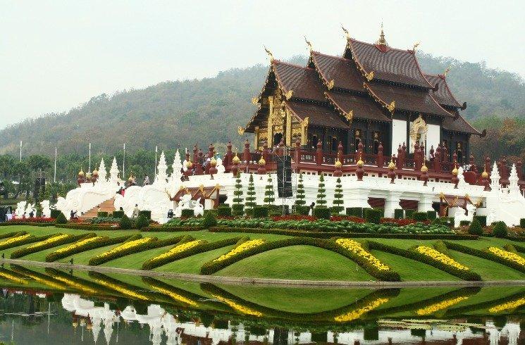Tempelanalge in Chiang Mai, Thailand