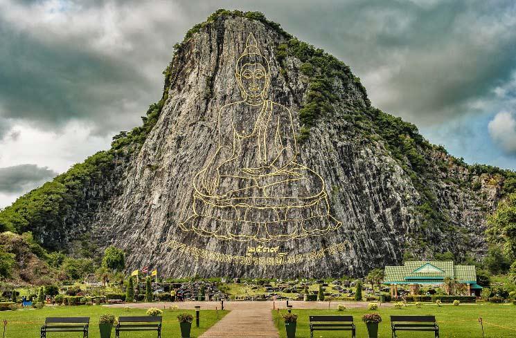 Laser-Buddh in Thailand