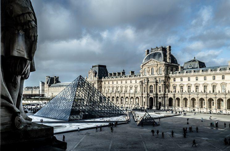 Der Louvre in Paris, Frankreich