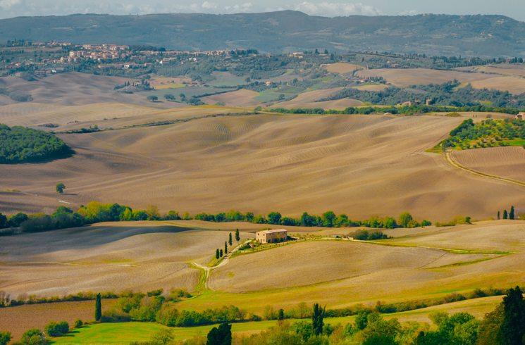 Montepulciano in der Toskana in Italien