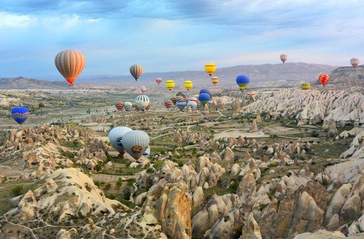 Ballonfestival in der Türkei