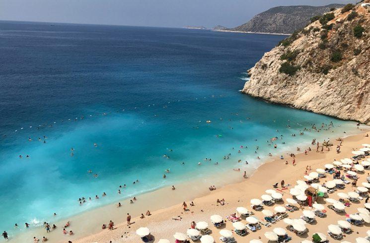 Strand von Kas in der Türkei