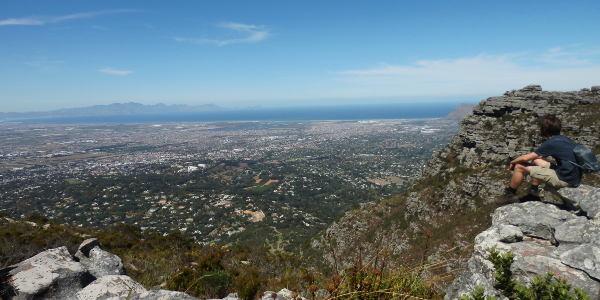 Gigantische Aussicht auf Kapstadt vom Tafelberg aus