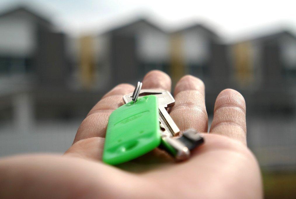 Schlüssel für die neue Wohnung