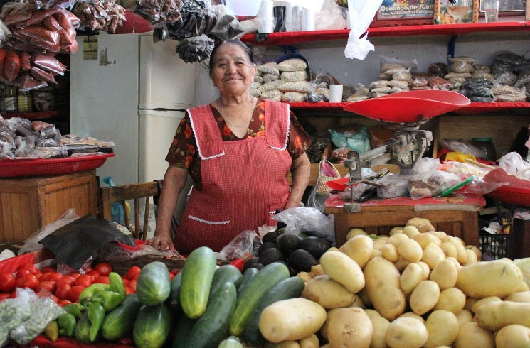 Marktstand in Chile