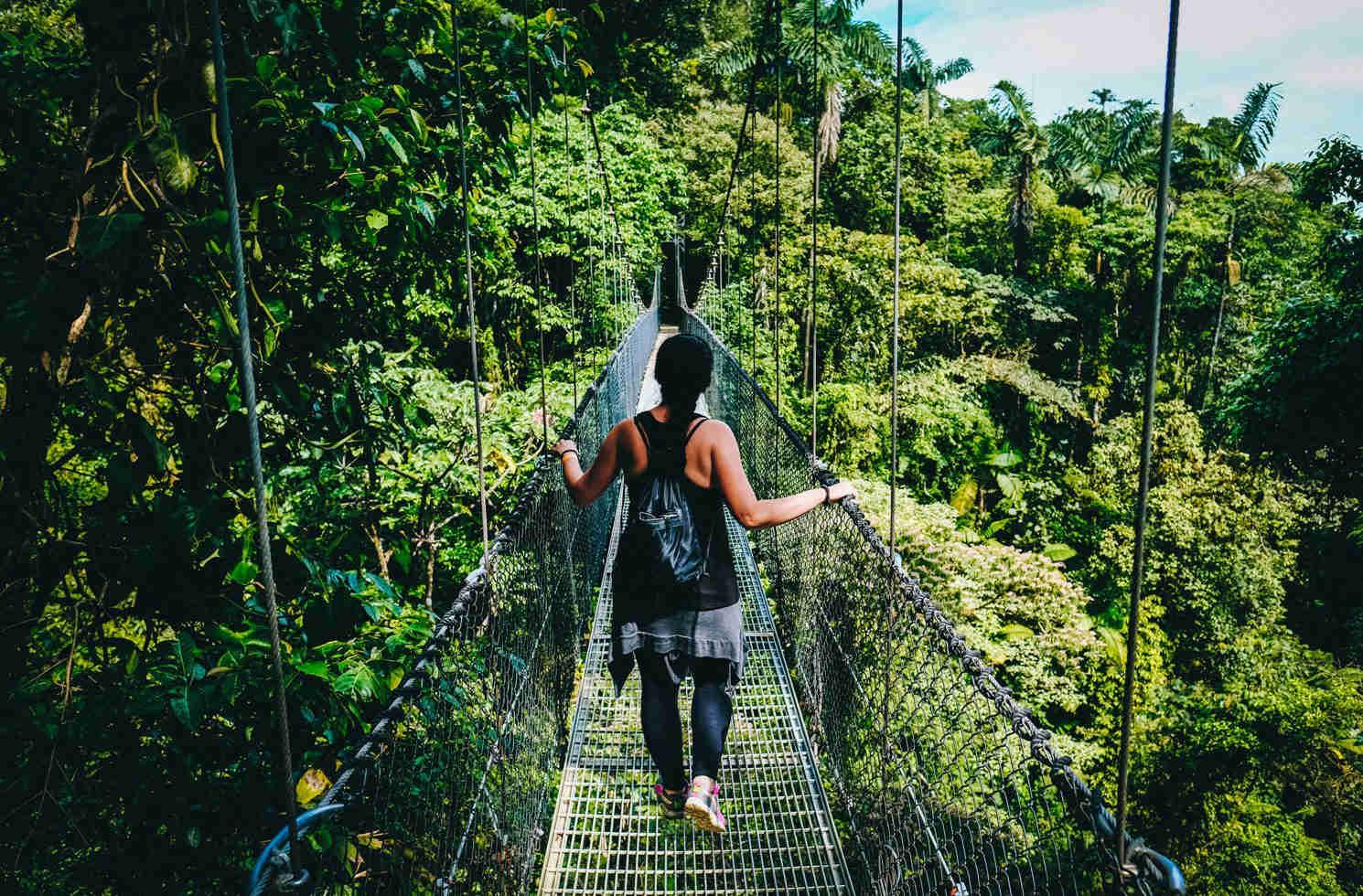 In Costa Rica im Regenwald unterwegs