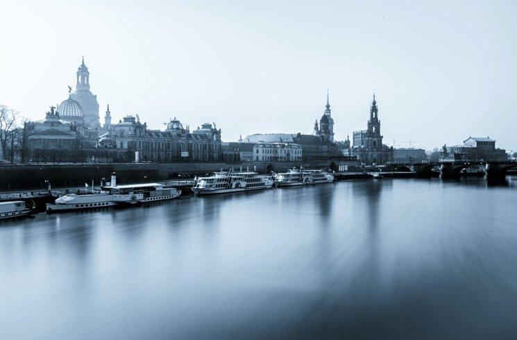 Blick auf Dresden in Deutschland