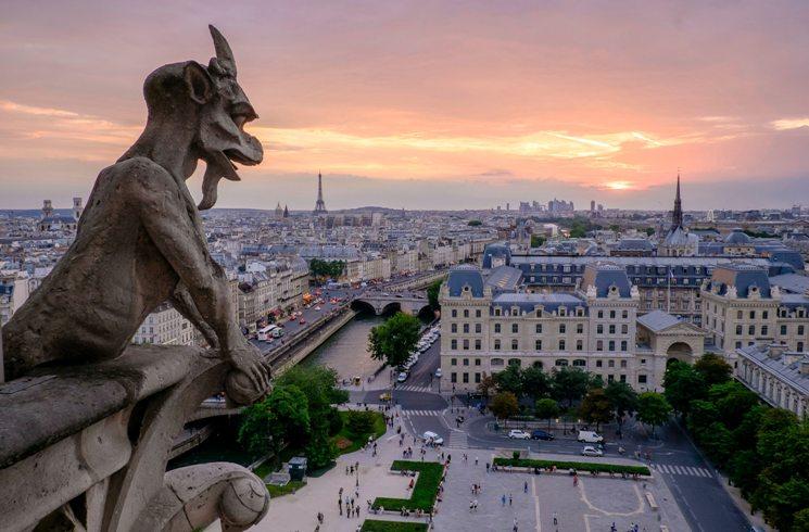 Blick von der Notre Dame auf Paris