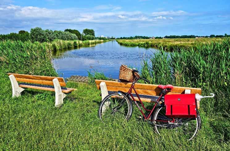 Mit dem Fahrrad in Holland unterwegs