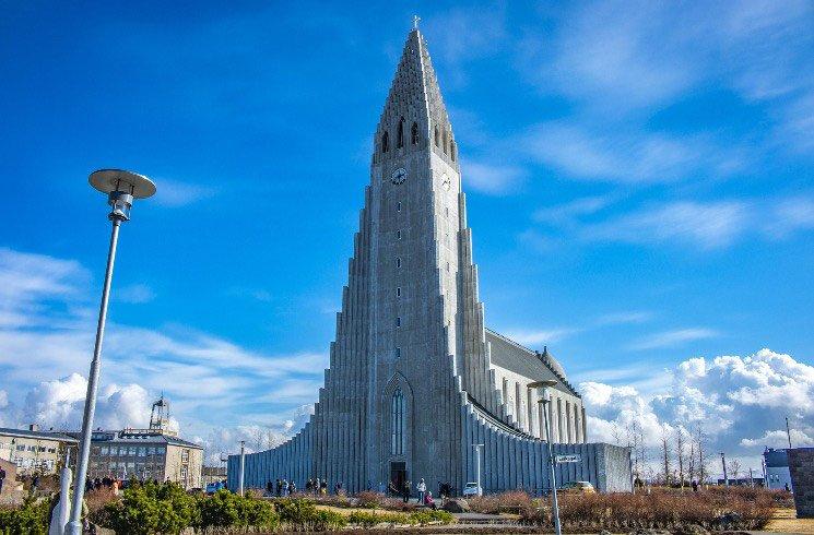 Kirche in Reykjavik in Island