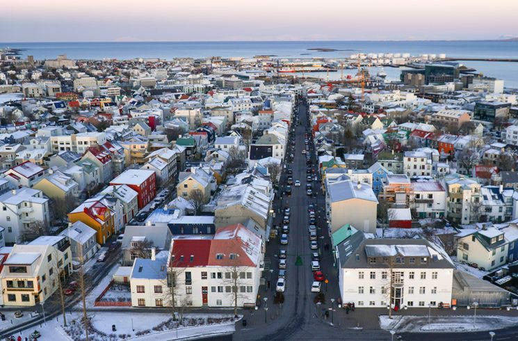 Reykjavik in Island