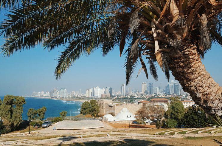 Blick auf Tel Aviv, Israel