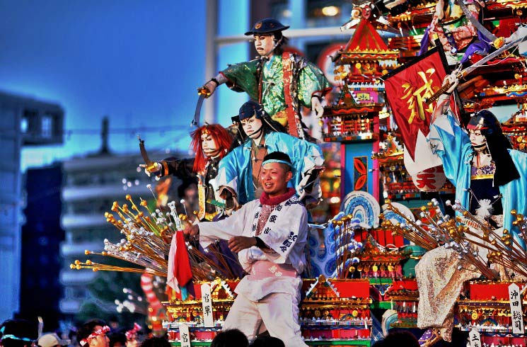 Traditionelles Festival in Japan