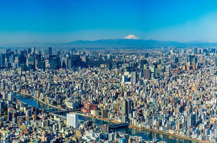 Blick auf Tokyo in Japan