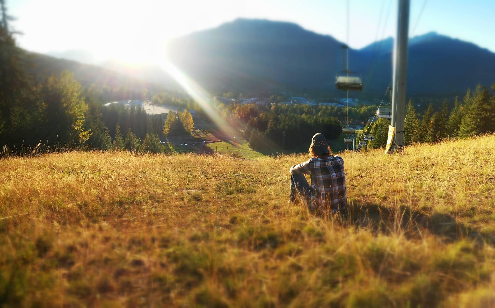 Der Herbst beginnt in Whistler, Kanada